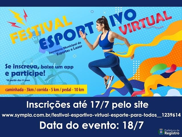 Secretaria de Esportes e Lazer lança Festival Esportivo Virtual: Esporte pela Vida, Saúde e Bem-estar