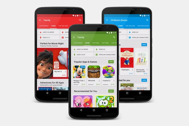 جوجل بلاي تطلق قسم متخصص في تطبيقات الأطفال