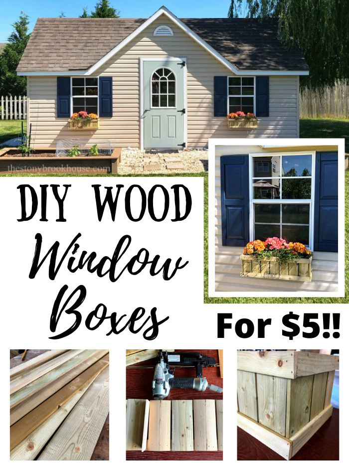 DIY Wood Window Boxes For $5!!