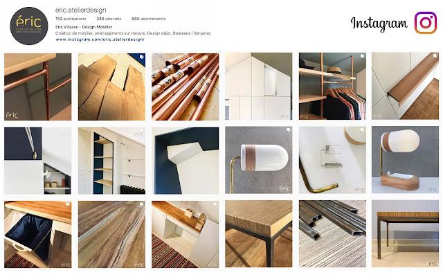 Page instagram Eric Atelier Design - Création mobilier design