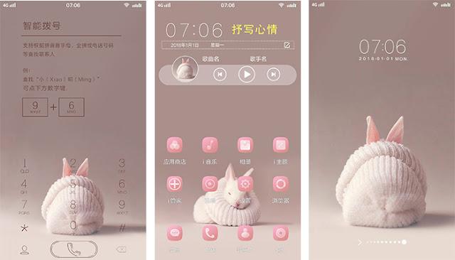 Pink Rabbit Theme For Vivo Y93 Z3i Y71i V11i Y97 X23 V11 Y83 V9 Z1i Nex S A Y81 X21i