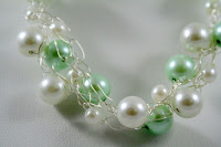 Spring has Sprung (Swarovski glass pearls, sterling silver, crochet wire) :: All Pretty Things