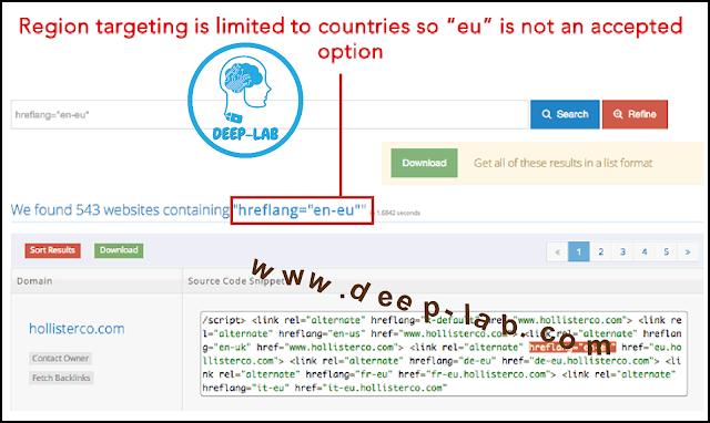 ما هي سمات علامة hreflang - الاستهداف الدولي التي تتضمن أخطاء