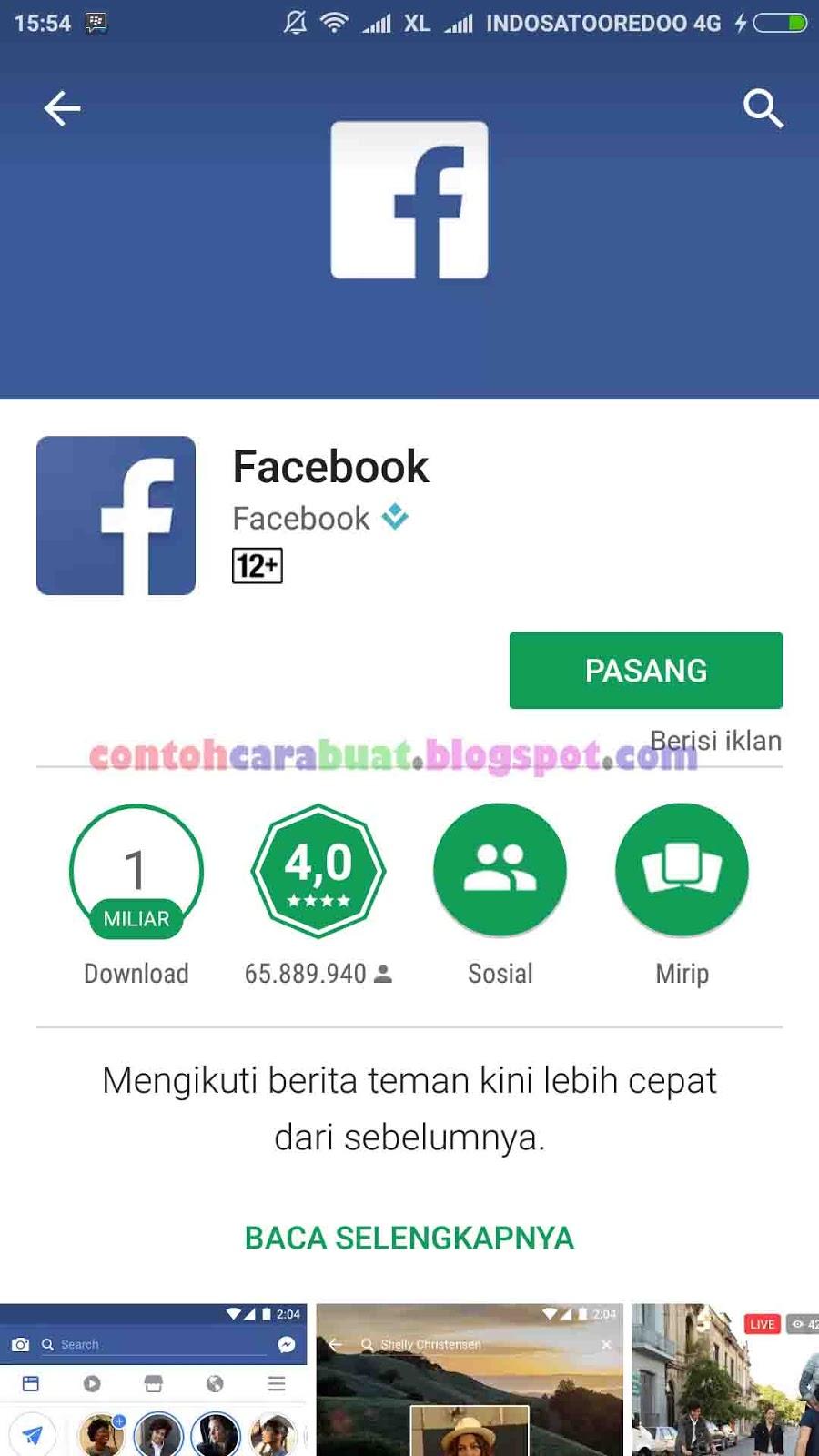 Daftar Facebook Indonesia | Cara Buat Facebook Lewat Hp