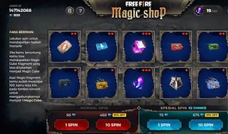 Magic Shop FF 21 November 2019, Spin dan dapatkan hadiah menarik