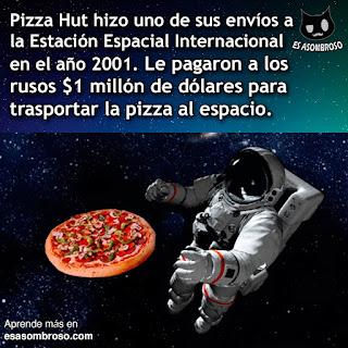 Pizza Hut hizo uno de sus envíos de pizza a la Estación Espacial Internacional