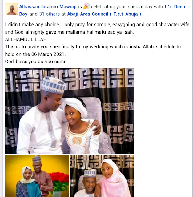 """""""I only prayed for a simple, easygoing, good character wife and God gave me Mallama"""" - Sokoto student says as he sets to wed"""