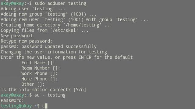 how to add a new user in ubuntu