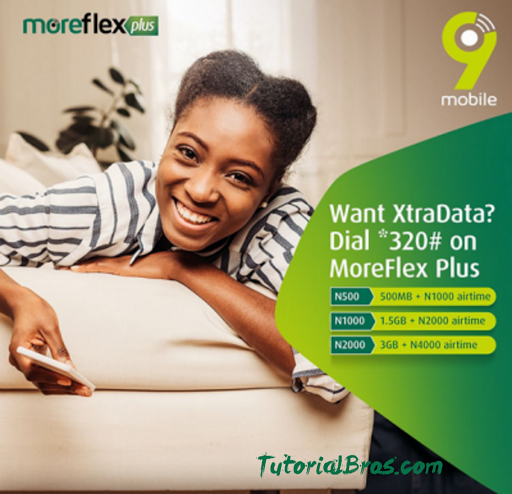 Moreflex is one of the best package on the 9mobile network as it offers you affordable Data + Airtime while you pay less. This offer has been specially designed for