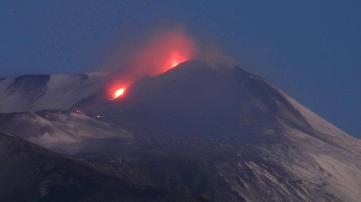 Colata lavica sul versante Sud-Est dell'Etna