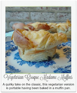 A quirky take on the classic, this version is made using a vegetarian faux ham, housed in a muffin tin with egg, white sauce and cheese to make a perfect delicious portable snack when out & about.