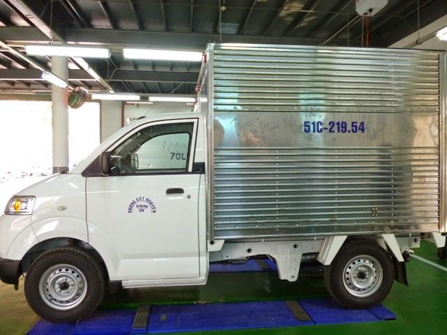 Xe ben suzuki 500kg,xe thùng kín ,thùng mui bạt