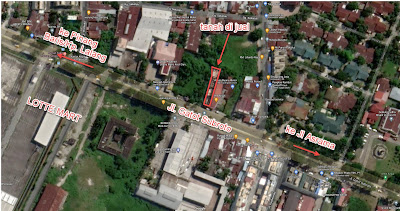 Peta tanah murah di Google Maps - SHM - Pinggir Jalan Gatot Subroto Medan - Depan Lotte Mart