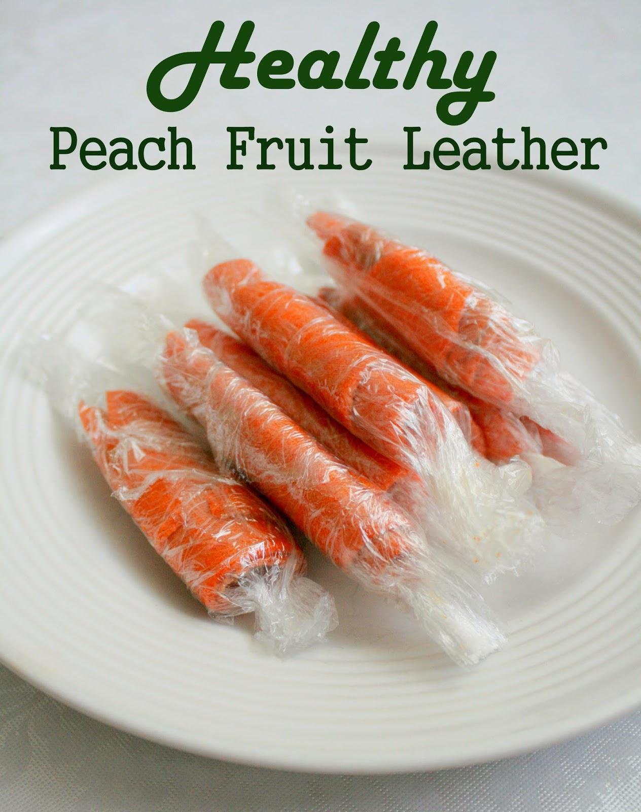 Grain Crazy: Homemade Peach Fruit Leather