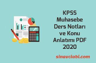 KPSS Muhasebe Ders Notları ve Konu Anlatımı PDF 2020