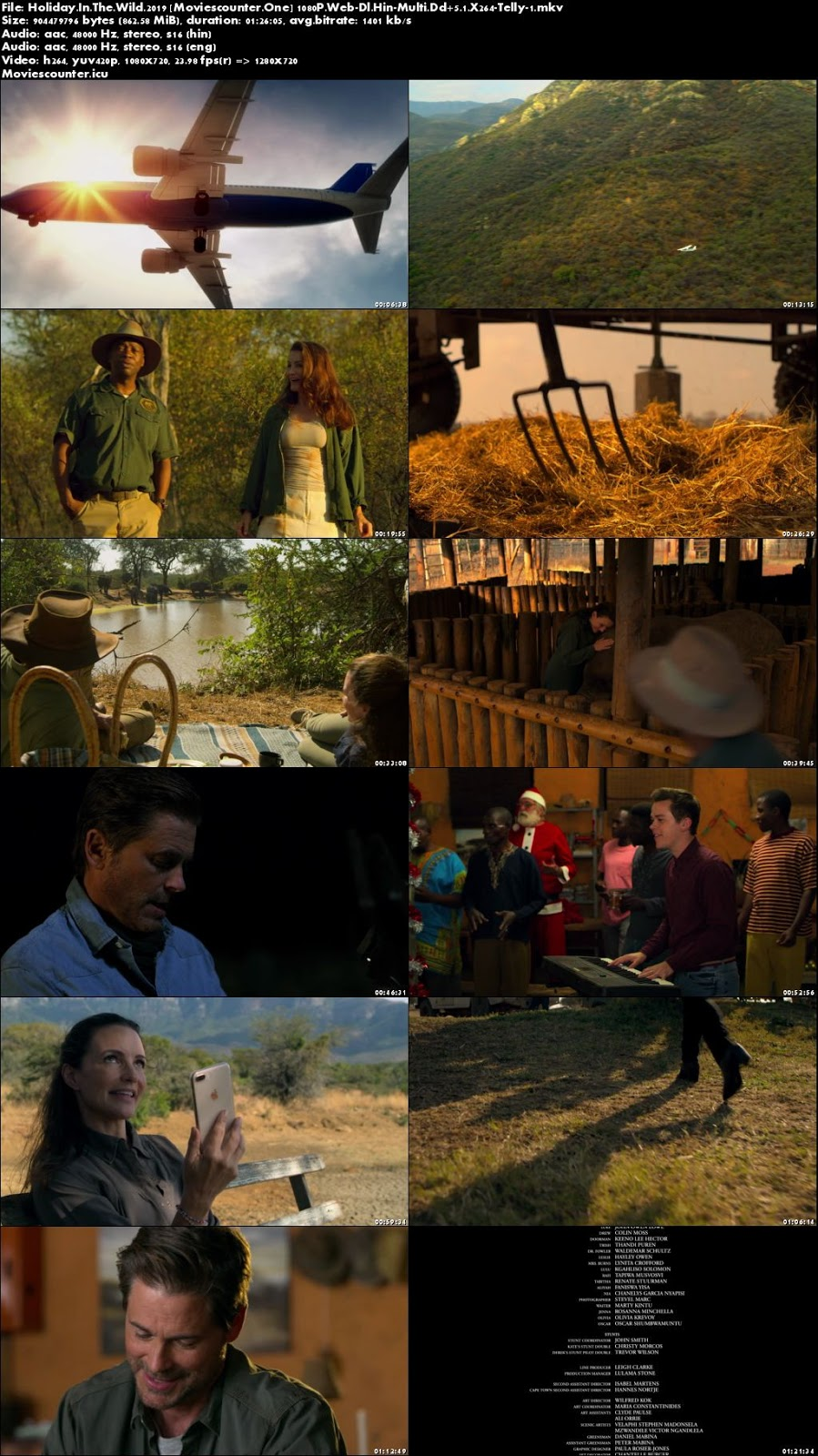 Screen Shots Holiday In The Wild 2019 Dual Audio HD 720p