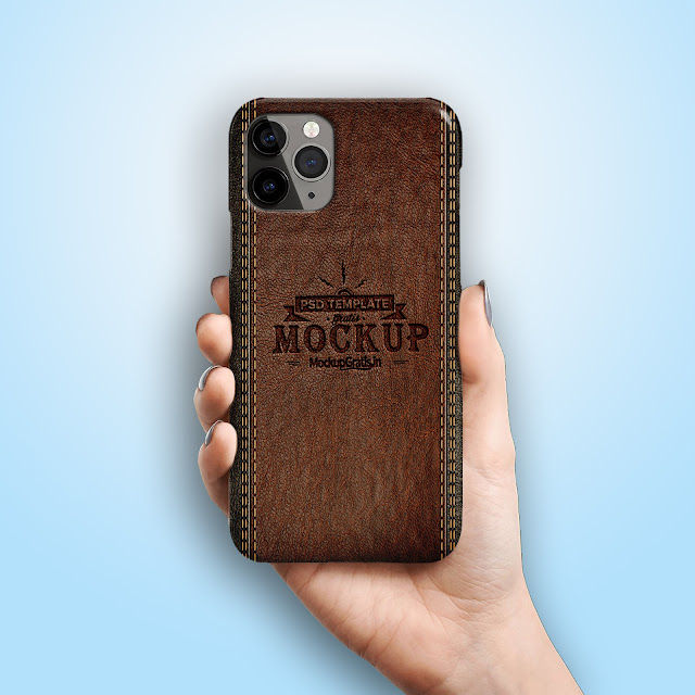 Mockup Custom Case 3D iPhone 11 Pro Gratis