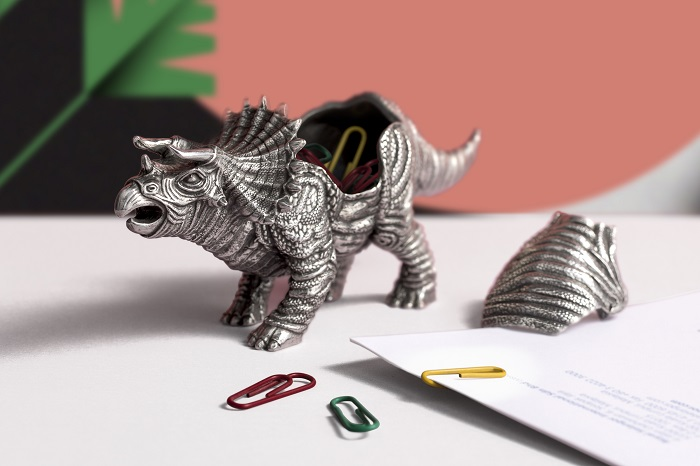 Dinosaurs Stationery From Royal Selangor Triceratops Container