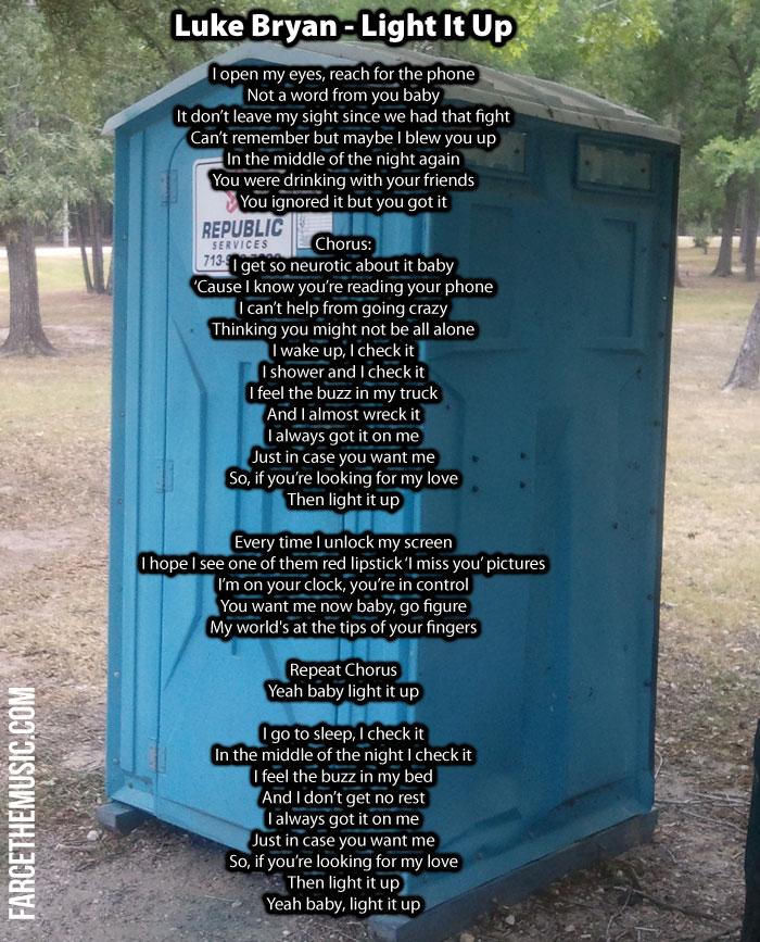 Lyric luke bryan song lyrics : Farce the Music: These Are The Actual Lyrics of Luke Bryan's New ...
