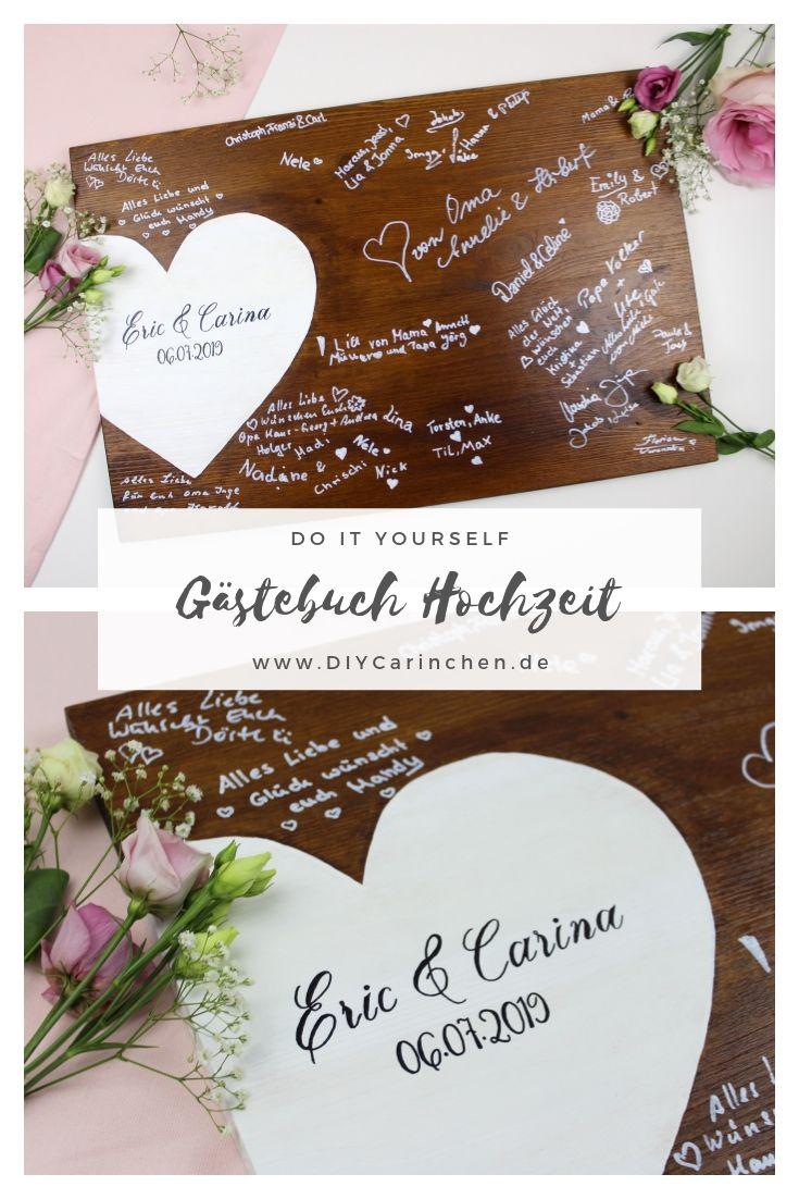 DIY - ausgefallenes Gästebuch zur Hochzeit ganz einfach selber machen