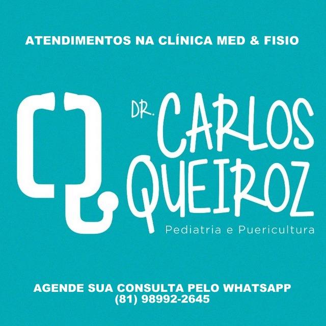 Pediatra Dr. Carlos Queiroz atende em Santa Cruz do Caibaribe, na Clínica Med & Fisio