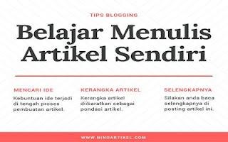 Cara Mudah Belajar Menulis Artikel