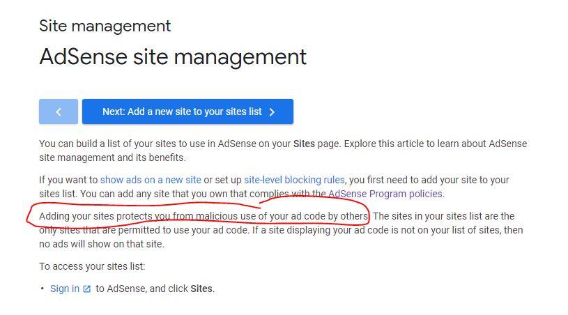 adsense site policy
