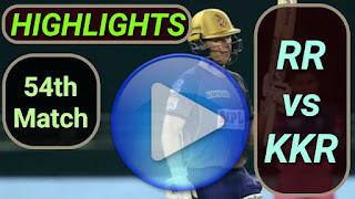 RR vs KKR 54th Match