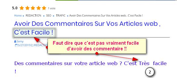ecrire un bon titre d'article web , un titre provocateur