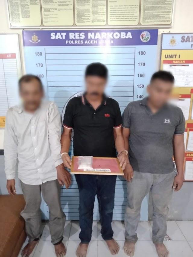 3 Pengguna Sabu Asal Seunebok Baro Di Beurekah Polisi