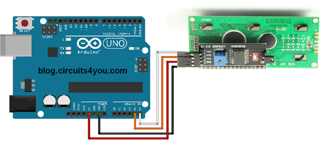 Arduino I2C LCD Module Connections
