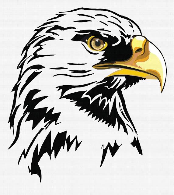 design illustrator   Regal Eagle Head,VERY SIMPLE EPS 10