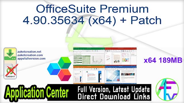 OfficeSuite Premium 4.90.35634 (x64) + Patch