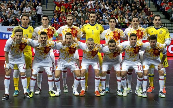 Selección española fútbol sala campeona de Europa