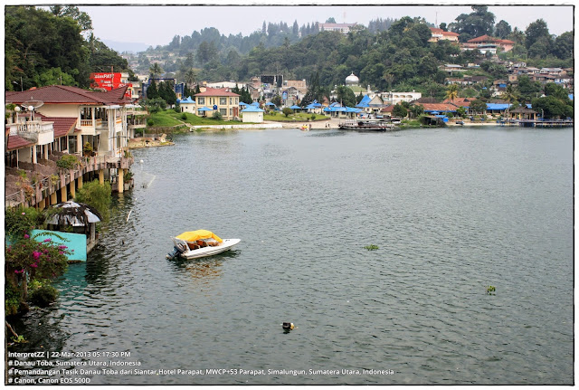 Gambar Tasik Danau Toba dari Siantar Hotel Perapat.