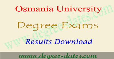 OU degree results 2018 Osmania university ug result date