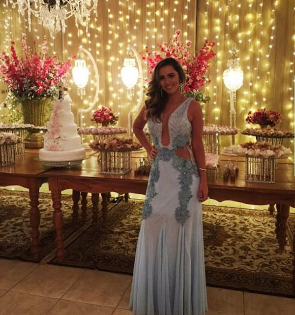 vestido de festa azul l 2017