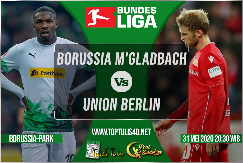 Prediksi Borussia M'gladbach vs Union Berlin 31 Mei 2020