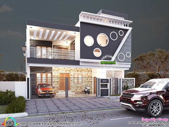 Attractive house by 3d Edge Design Solutions