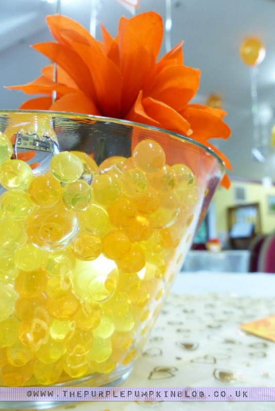 Orange Yellow 40th Birthday Party Decorations Table Centerpieces