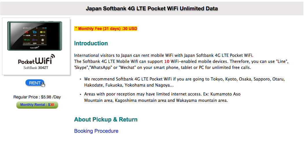 Great Deal of iVideo Pocket Wifi when Travel to Japan
