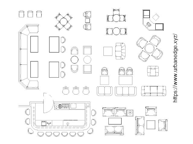 Furniture for bar and restaurant cad blocks free download - 30+ free cad blocks