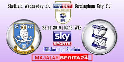 Prediksi Sheffield Wednesday vs Birmingham City — 28 November 2019