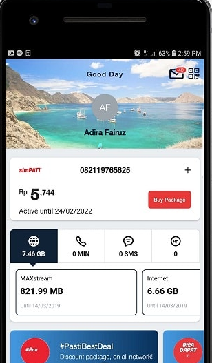 cek kuota telkomsel melalui aplikasi my telkomsel