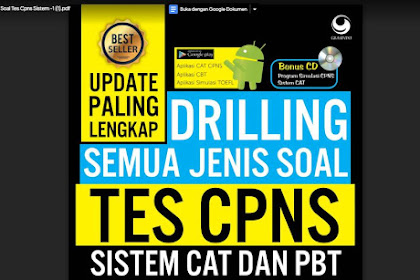Update paling Lengkap Drilling Semua Jenis Soal Tes CPNS 2019 TWK, TIU dan TKP