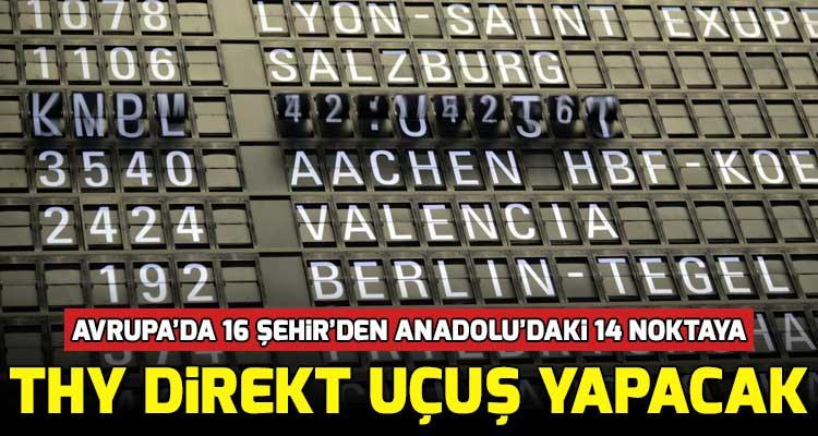 THY Anadolu Direkt Uçuşları Başlatıyor