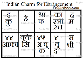 Indian Occult Voodoo Charm for Facilitating Estrangement