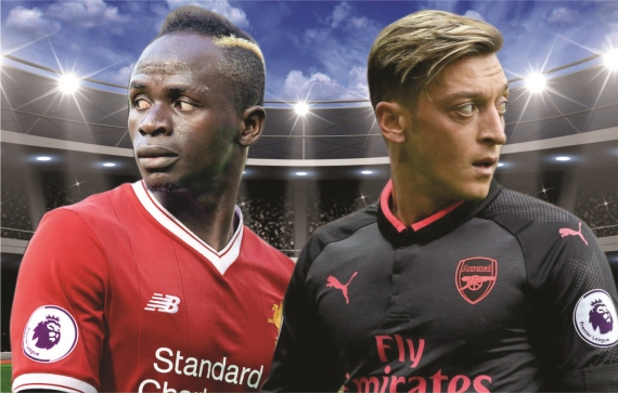 Sadio Mane and Mesut Ozil will look to guide their sides to victory on Sunday.