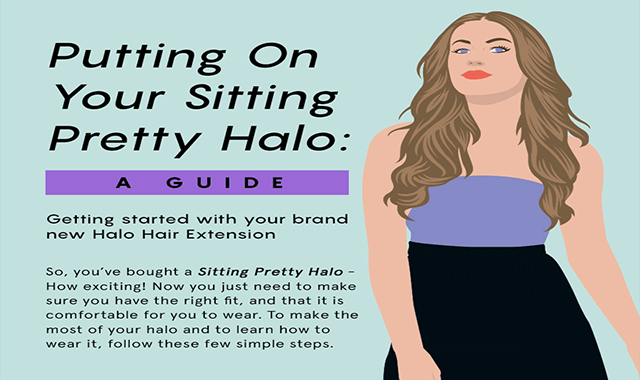 Halo Hair Extensions – How They Can Be Placed on #infographic