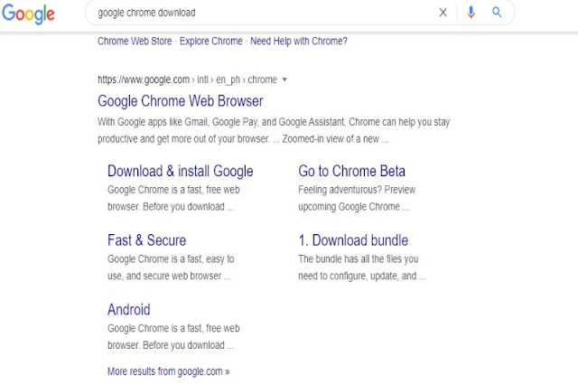 Download Chrome browser or any internet browser